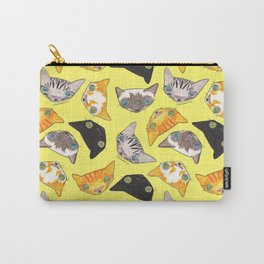 """""""Oro?"""" Cats-Canary Yellow Carry-All Pouch"""