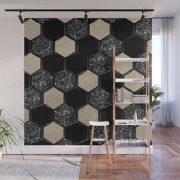 Hexagon Glitter Glam #1 #geometric #decor #art #society6 Wall Mural