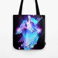 christ Tote Bags featuring Cosmic Christ by Matt Bryson