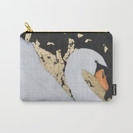 Rose the White Swan Carry-All Pouch