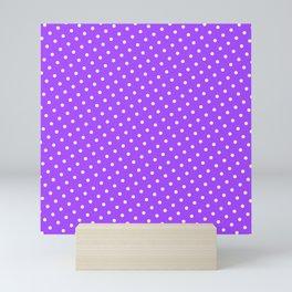 Pastel Goth Pastel Purple Retro Polka Dot (White) Mini Art Print