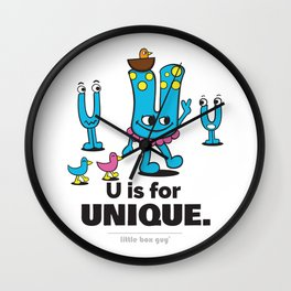 U is for Unique. Wall Clock