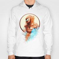 spider man Hoodies featuring Spider-Man by Rene Alberto