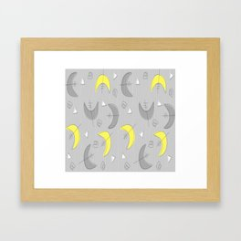 Boomerangs!  Grey and Yellow Framed Art Print