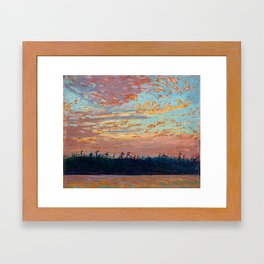Tom Thomson - Sunset Sky - Canada, Canadian Oil Painting - Group of Seven Framed Art Print