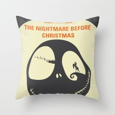 No712 My The Nightmare Before Christmas minimal movie poster Throw Pillow