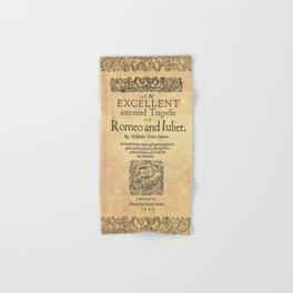 Shakespeare, Romeo and Juliet 1597 Hand & Bath Towel