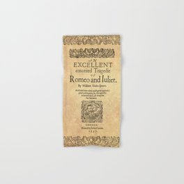 Shakespeare, Romeo and Juliet 1597 Hand & Bath Towel