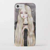 rapunzel iPhone & iPod Cases featuring Rapunzel by Black Fury