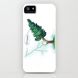 Trees Done With Life 3 iPhone Case