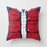 mcfly Throw Pillows featuring The McFly by antastic