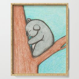 Sleepy Koala Serving Tray