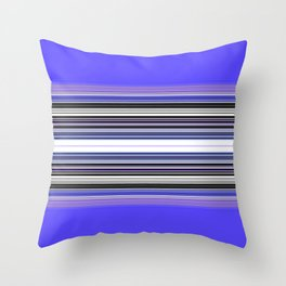 Bright bold Blue And Purple Stripe Throw Pillow