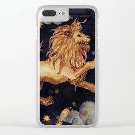 Zodiac sign Leo Clear iPhone Case