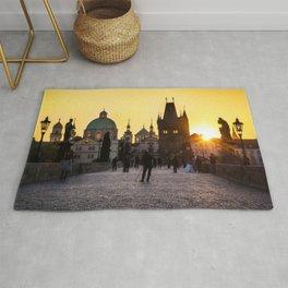 Prague's Golden Sunrise Rug