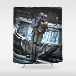 Sexy Sci-Fi 3 Shower Curtain