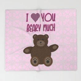 Beary Love Throw Blanket