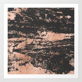 Marble Black Rose Gold - Dope Art Print