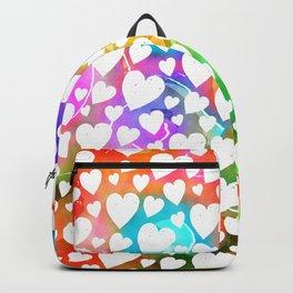 Watercolour Heart Pattern Backpack