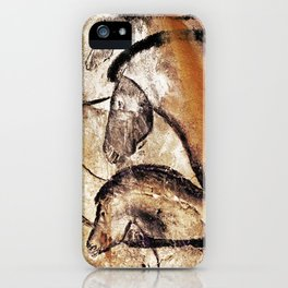 Facing Horses // Chauvet Cave Art iPhone Case