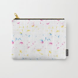 Dandelion Seeds Pansexual Pride (white background) Carry-All Pouch
