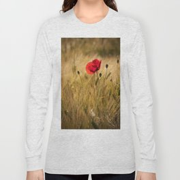 Poppies in a summerfield - Flowers Floral Long Sleeve T-shirt
