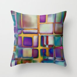 Colored Windows Throw Pillow