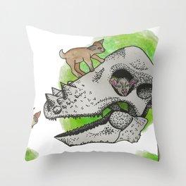 Present Meets Past - Goat Throw Pillow