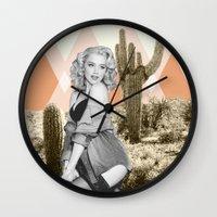 arizona Wall Clocks featuring Arizona by Kristen Chamberlain