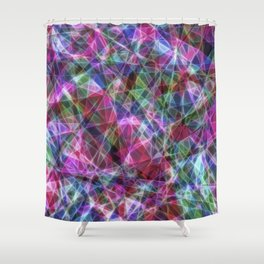 Geometric Stained Glass Shower Curtain