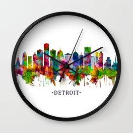 Detroit Michigan Skyline Wall Clock