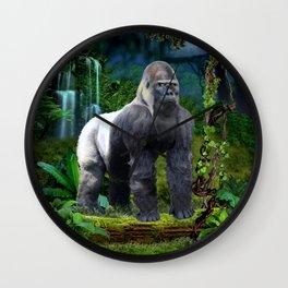 Silverback Gorilla Guardian of the Rainforest Wall Clock