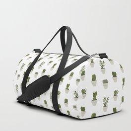 Cacti & Succulents - White Duffle Bag