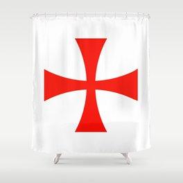 Knights Templar cross Shower Curtain