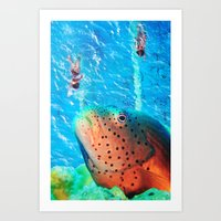 swim Art Prints featuring Swim by John Turck
