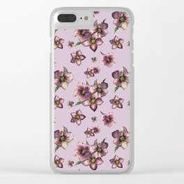 Hellebore or Christmas rose Clear iPhone Case