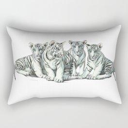 White Tiger Babies Rectangular Pillow