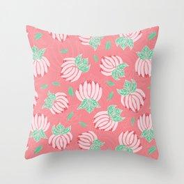 Blush Bloom Peony Blossom Throw Pillow
