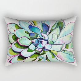 Cacti with pink tipped leaves Rectangular Pillow