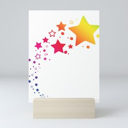 Rainbow Stars Mini Art Print