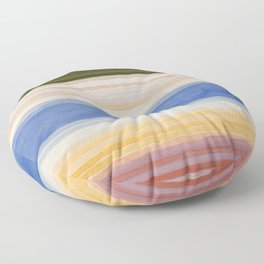 Colorbands Yellowstone Light Pink Floor Pillow