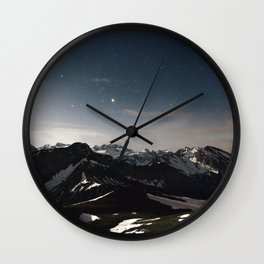 Mountain Starry Night Wall Clock