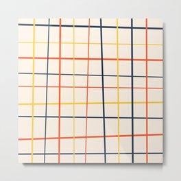 simple grid pattern Metal Print