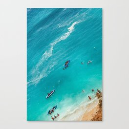 Beach from above Canvas Print