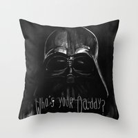 darth Throw Pillows featuring Darth by Heather Engelberg