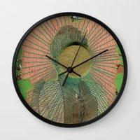 big bang Wall Clocks featuring Big Bang by Naomi Vona