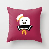 ghostbusters Throw Pillows featuring Ghostbusters by FilmsQuiz