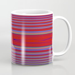 Fractral Trace In Red Coffee Mug