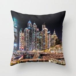 Dubai Marina Throw Pillow