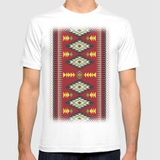 Navajo Pattern 1 White MEDIUM Mens Fitted Tee